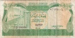 LIBYE   1/2 Dinar   ND (1981)   P. 43a   Sign.1 - Libya
