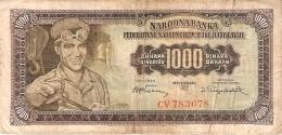 YOUGOSLAVIE   1000 Dinara   1/5/1955   P. 71a - Yugoslavia