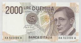 2000 Lire - Guglielmo Marconi - Serie Speciale X - [ 2] 1946-… : Républic