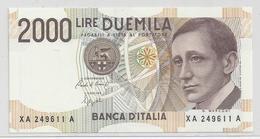 2000 Lire - Guglielmo Marconi - Serie Speciale X - [ 2] 1946-… Republik