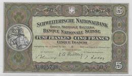 5 Franchi - Tipo Guglielmo Tell - FDS - Svizzera