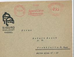 "Francotyp ""A"" Kassel 1934 Sigurd Waren Geld Sparen - Affrancature Meccaniche Rosse (EMA)"