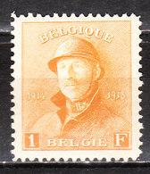 175**  Roi Albert Casqué - Bonne Valeur - MNH** - COB 120 - Vendu à 13.50% Du COB!!!! - 1919-1920 Roi Casqué