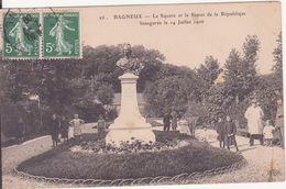 CPA - 26. BAGNEUX Le Square Et La Statue De La République - Bagneux