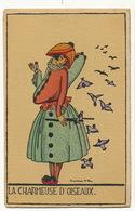 Art Deco La Charmeuse D' Oiseaux Par Denise Millon No Postcard Back - Other Illustrators