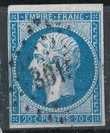 N°14  VARIETE ET OBLITERATION. - 1853-1860 Napoleon III
