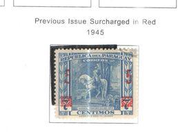 Paraguay PO 1945 Prev.Surch.  Scott.414+Nuovi See Scans - Paraguay