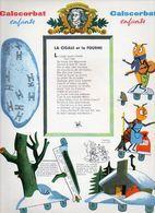 """Publicité Pharmaceutique / Jeu De Découpages,découpis 24x32 Cm """"La Cigale Et La Fourmi"""" De Jean De La Fontaine - Other"""