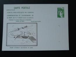 31 Haute Garonne Verfeil De Riquet Canal Du Midi Entier Postal Sabine De Gandon Stationery Card - Boten