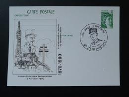 59 Berlainmont General De Gaulle 1980 (1.10F) Entier Postal Sabine De Gandon Stationery Card - De Gaulle (Generale)