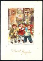 B1478 - Glückwunschkarte - Neujahr - Winterlandschaft  - Herbert Schulze Leipzig - Orig DDR 1956 - New Year