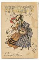 Belles Femmes Signée Naillod  Promenade Hiver Taches  Serie 148 - Naillod