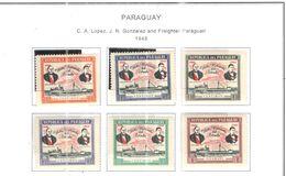 Paraguay PO 1949 Lopez E  Scott.453/458+Nuovi See Scans - Paraguay