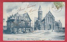 Mont-à-Leux ( Mouscron ) Eglise Saint-Antoine  -1907 ( Voir Verso ) - Mouscron - Moeskroen