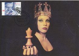D32825 CARTE MAXIMUM CARD RR FD 2001 NETHERLANDS - CHESS QUEEN HOLDING THE KING CP ORIGINAL - Chess