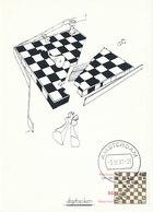 D32826 CARTE MAXIMUM CARD RR FD 2001 NETHERLANDS - CHESS HUMOR BROKEN PLAY CP ORIGINAL - Chess