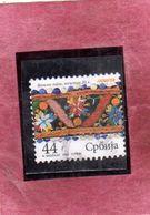 SERBIA SRBIJA SERBIE 2009 Embroidery IL RICAMO 44d USATO USED OBLITERE' - Serbia