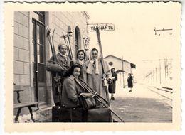 TRENO TRAIN FERROVIA RAIL - STAZIONE DI VERNANTE - FOTO ORIGINALE 1951 - Trains