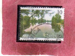 SERBIA SRBIJA SERBIE 2007 TOURISM TURISTICA RIVER ZAPADNA MORAVA DIN 10d USATO USED OBLITERE' - Serbia