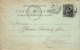 06 NICE   - Année 1900 Entiers Postaux (plis Sur La Gauche) - Postal Stamped Stationery