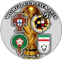 Pin FIFA 2018 Group B Portugal Spain Morocco Iran - Fútbol
