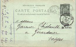 La Charité  - L. Vimont  - Année 1900 Entiers Postaux - Entiers Postaux