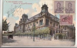 BUENOS AIRES     PALACIO DE AGUAS CORRIENTES    + BEL AFFRANCHISSEMENT  + CACHET RECP 2499 - Argentine