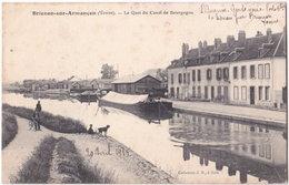 89. BRIENON-SUR-ARMANCON. Le Quai Du Canal De Bourgogne - Brienon Sur Armancon