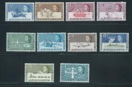 British Antarctic Territory 1963 QEII Definitive Short Set Of 10 To 1/- Plane MNH - Territorio Antartico Britannico  (BAT)