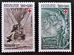 HOMMAGE A JULES VERNE 1982 - NEUFS ** - YT 2247a/48a - MI 2367C/38C - TIMBRES DU CARNET - Unused Stamps
