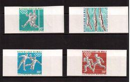 Mali-1976,(Mi.535B-538B), Imper.,Football, Soccer, Fussball,calcio,MNH - Calcio