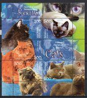BIELORUSSIA 2004 - TEMATICA ANIMALI - GATTI - 5 VALORI IN FOGLIETTO - ** - Bielorussia