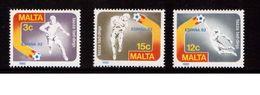 Malta-1982,(Mi.663-665), Football, Soccer, Fussball,calcio,MNH - 1982 – Spain