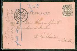 HANDGESCHREVEN BRIEFKAART Uit 1898 Gelopen Van BREDA Naar ENKHUIZEN * NVPH 33a * (10.661m) - Periode 1891-1948 (Wilhelmina)