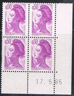 "FRANCE : N° 2184 ** En Coin Daté ""17.5.85"" (Type Liberté) - PRIX FIXE - - 1982-90 Liberté De Gandon"