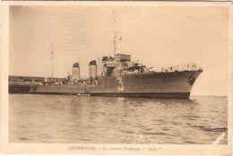 CPA Cherbourg Le Contre Torpilleur Tigre 50 Manche - Cherbourg