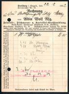 B1497 - Rechnung Quittung - Stollberg 1932  - Albin Wolf - 1900 – 1949