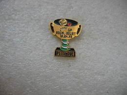 """Pin's Concours De Pétanque: Coupe Du 2eme Grand Prix """"Belin-Beliet Du 10-04-93 - Bowls - Pétanque"""