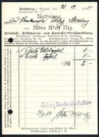 B1498 - Rechnung Quittung - Stollberg 1934  - Albin Wolf - 1900 – 1949