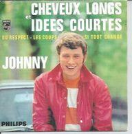 "CD  4 TITRES - JOHNNY HALLYDAY -   "" CHEVEUX LONGS ET IDEES COURTES "" +  3 - Musique & Instruments"