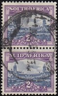 SOUTH AFRICA - Scott #56 Government Buildings, Pretoria (1) / Used Pair Stamp - Zuid-Afrika (...-1961)