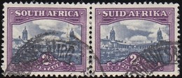 SOUTH AFRICA - Scott #56 Government Buildings, Pretoria (2) / Used Pair Stamp - Zuid-Afrika (...-1961)