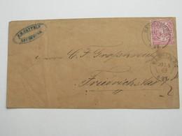1869 , RENDSBURG , Klarer Stempel Auf Brief - Schleswig-Holstein