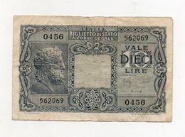 """Italia - Luogotenenza - Biglietto Di Stato Da Lire 10 """" Giove """" - Decreto 23.11.1944 - (FDC8424) - [ 1] …-1946 : Kingdom"""