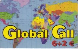 TARJETA DE ESPAÑA DE PREPAGO DE GLOBAL CALL (MAPAMUNDI) - Spain