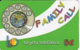 TARJETA DE ESPAÑA DE PREPAGO DE FAMILY CALL - Spain