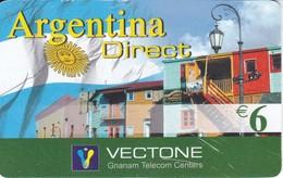 TARJETA DE ESPAÑA DE PREPAGO DE VECTONE ARGENTINA DIRECT (BANDERA-FLAG) - Spain