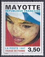 Mayotte 1997 Gesellschaft Menschen People Frauen Women Gesichter Faces Visage Frauenkopf, Mi. 39 ** - Mayotte (1892-2011)