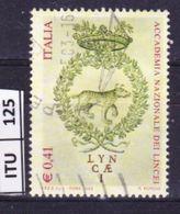 ITALIA REPUBBLICA, 2003, Accademia Dei Lincei, Usato - 6. 1946-.. Repubblica
