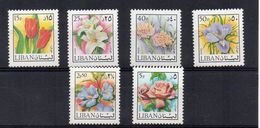 LIBANO - ANNI '70 - 6 VALORI FIORI - ** - Libano
